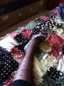 Here I was questioning if my nylons went with my shoes. She suggested I also bring the quilt.