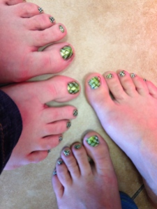 I'll also go with a friend to get a pedicure for St. Patrick's Day.  BUT THAT'S IT