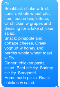I've even meal planned for the whole entire week.  Seriously, where are the gold stars?