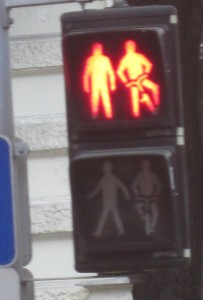 I like how they clarify that one leg should be on the ground if you are on a bike