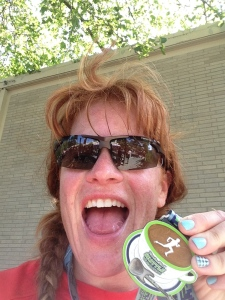 I don't have any team photos.  But this is me IN Seattle after running 13.1 miles.  Which is close.