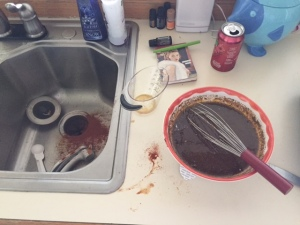 This is how I cook.  It isn't pretty.  I'm sorry.