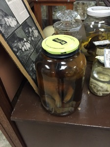 It's in a PICKLE JAR!